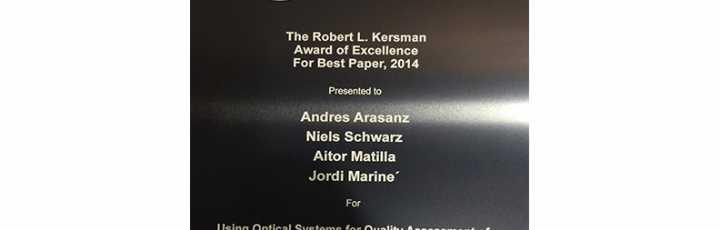 AAC awards Best Paper to Sensofar