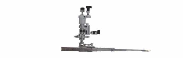 Radial Telescopic Transfer Arm (RTTA) for High Vacuum and UHV