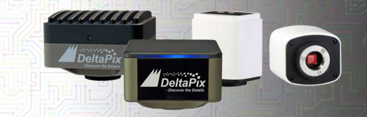 Fotocamere per microscopi digitali DeltaPix