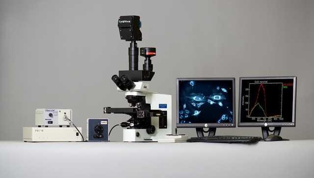 Sistema di microscopia in campo scuro