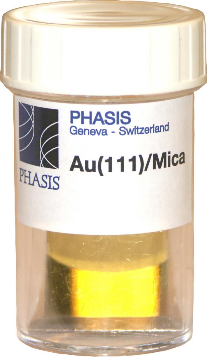 Epitaxial Gold Au(111) thin film grown on mica substrate