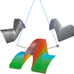 Connecting adjoining surfaces to measure angles greater than 90º