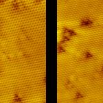 PanScan Freedom-LT image of Bi2Se3 single crystal at 30 K, I ~ 300 pA, V ~ 100 mV, size 15 nm.