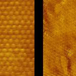 PanScan Freedom-LT; left image Au (111) at 30 K; right image Pt (111) at 30 K.