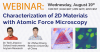 Webinar August 19, 2020: Characterization of two-dimensional materials with atomic force microscopy