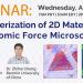 Webinar 19 agosto 2020: caratterizzazione di materiali bidimensionali tramite la microscopia AFM a forza atomica